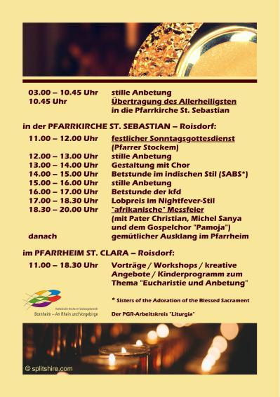 SNHandzettel Tag der Eucharistie2